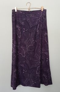 Notations vintage L purple paisley maxi skirt